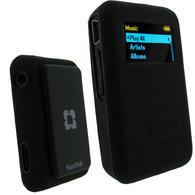 View Item iGadgitz BLACK Silicone Skin Case Cover for SanDisk Sansa Clip Plus (+) MP3 Player